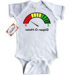 Inktastic Diaper-o-meter Infant Creeper Meter Full Empty Gag