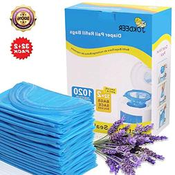 Diaper Pail Refill Bags 1020 Counts 34 Bags Fully Compatible