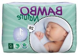 Bambo Nature Diapers- Size 1 Newborn- 28 Count