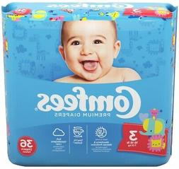 Comfees Baby Diapers Size 3 ''16 to 28 lbs.'' -Bag of 36 *GR
