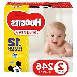 Huggies Snug & Dry Diapers, Economy Plus Pack, Size 2, 246 e