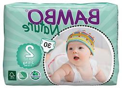 Bambo Nature Premium Baby Diapers, Mini, 30 Count size 2
