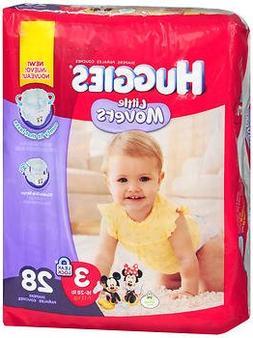 Huggies Little Movers Diapers, Jumbo Pack, Size 3, 28 ea