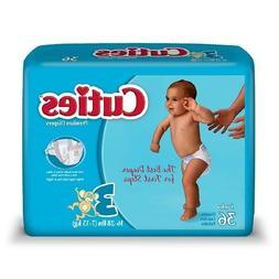 Cuties Premium Baby Diapers, Size 3, 36 Ea  by Cuties