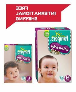 Pampers Diapers Active Baby Size S M L XL New Economy Newbor