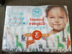 The Honest Company Diapers Giraffes Size 3 Babies 16 to 28 l