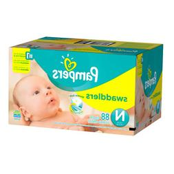 Pampers Swaddlers Diapers Size N Super Pack, 88 ea