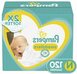 Diapers Newborn Size 0  120 Count Pampers Swaddlers Disposab