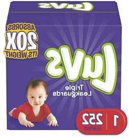 Diapers Newborn / Size 1, 252 Count - Luvs Ultra Leakguards