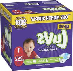 Diapers Newborn / Size 1 , 252 Count - Luvs Ultra Leakguard