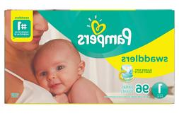 Diapers Newborn Size 1  Pampers Swaddlers Baby Diapers 96 PA