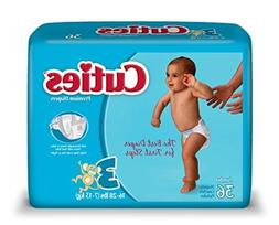 Cuties Baby Diapers, Size 3, 36 Count  by Cuties