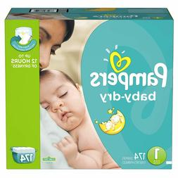 Diapers Size 1, 174 Count - Pampers Baby Dry Disposable Baby