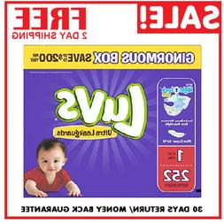 Diapers size 1 Luvs Ultra Leakguards Disposable 252 counts B