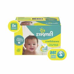 Diapers Size 2, 186 Count - Pampers Swaddlers Disposable Bab