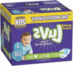 Diapers Size 2, 228 Count - Luvs Ultra Leakguards Disposable
