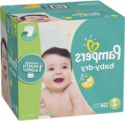 Diapers Size 2, 234 Count - Pampers Baby Dry Disposable Baby