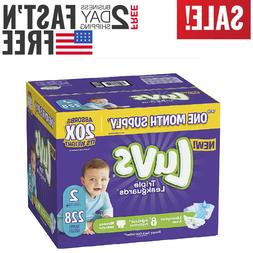 Diapers size 2 Luvs Ultra Leakguards Disposable 228 count Ba