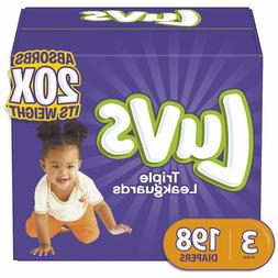 Diapers Size 3, 198 Count - Luvs Ultra Leakguards Disposable