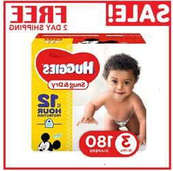 Diapers size 3 Huggies Snug&Dry Diapers Size 3 180 count- Ba
