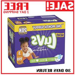 Diapers size 3 Luvs Ultra Leakguards Disposable 198 count Ba