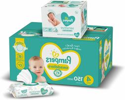 Diapers Size 4, 150 Count and Baby Wipes - Pampers Swaddlers