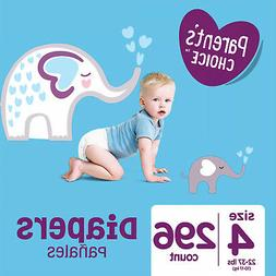 Parents Choice Diapers Size 4 Diapers 296 compared to PAMPER