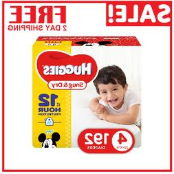 Diapers size 4 Huggies Snug&Dry Diapers Size 4 -192 count- B