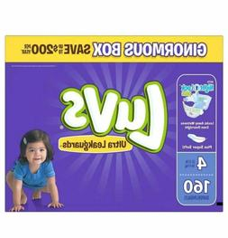 Diapers Size 4 Luvs Ultra Leakguards 160 Count