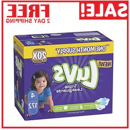 Diapers size 4 Luvs Ultra Leakguards Disposable 172 counts B