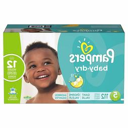 Diapers Size 5, 112 Count - Pampers Baby Dry Disposable Baby