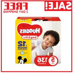 Diapers size 5 Huggies Snug&Dry Diapers Size 5 -136 count- B