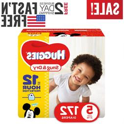 Diapers size 5 Huggies Snug&Dry Diapers Size 5 172 count- Ba