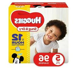Diapers size 5 Huggies Snug & Dry Diapers, Size 5 - 96 count
