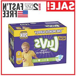 Diapers size 5 Luvs Ultra Leakguards Disposable 148 counts B