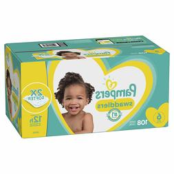 Diapers Size 6, 108 Count - Pampers Swaddlers Disposable Bab