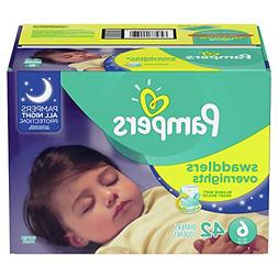 Diapers Size 6, 42 Count - Pampers Swaddlers Overnights Disp