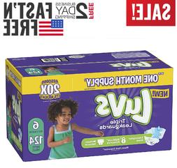 Diapers size 6 Luvs Ultra Leakguards Disposable 124 counts B