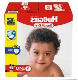 Huggies Diapers Snug & Dry Baby Diapers Size 3, 4, 5, 6. Fas