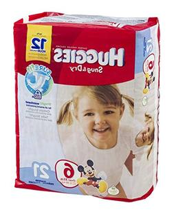 Huggies Diapers Snug & Dry Disney Size 6  21 CT