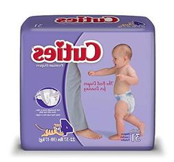 Cuties Baby Diapers, Size 4, 31 Count  by Cuties