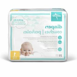 Medline Disposable Baby 25 Diapers, Sizes 1