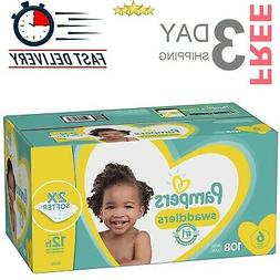 Pampers Disposable Baby Diapers Size 6 108 Count Swaddlers O