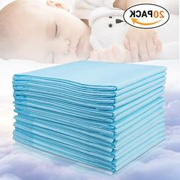 Baby Disposable Changing Pad, 20Pack Soft Waterproof Mat, Po