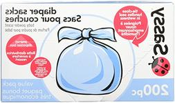 Baby Disposable Diaper Sacks, 200ct.