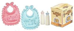 Dollhouse Miniature 1:12 Scale 5 Pc Diaper Box/bottles/bibs