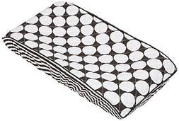 Bacati - Dots/pin Stripes Black Large Dots Changing Pad Cove