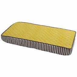 Bacati - Dots/pin Stripes Yellow Pin Dots Changing Pad Cover