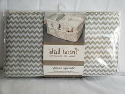 Trend Lab Dove Gray Chevron Storage, Nursery, Diaper Caddy -