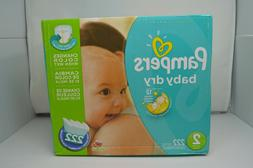 *NEW* Pampers Baby Dry Diapers Size 2, 222 Count ***LOWEST P